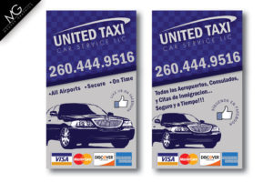 United Taxi Business Card Mockup